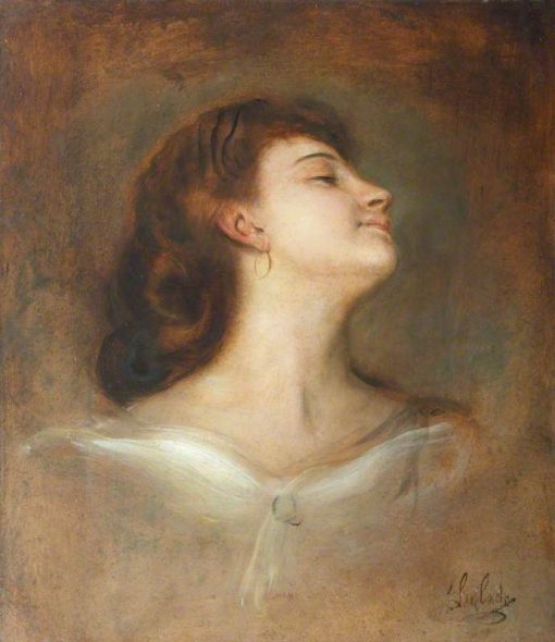 Study of the Head of an Unknown Lady | Franz von Lenbach | Oil Painting
