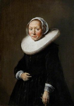Portrait of a Woman in Black | Hendrick Pot | Oil Painting