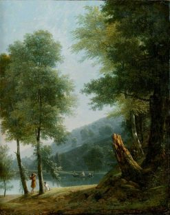 Landscape with Classical Figures on and beside a Lake | Jean Victor Bertin | Oil Painting