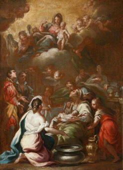 The Birth of the Virgin with the Virgin and Child in Glory | Luca Giordano | Oil Painting