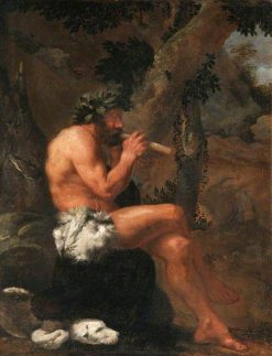 Pan Playing His Pipes in a Wooded Clearing | Pier Francesco Mola | Oil Painting