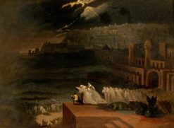 Jonah Preaching before Nineveh | John Martin | Oil Painting