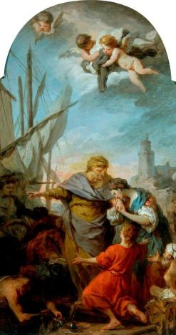 The Embarkation of St Paula for the Holy Land | Pierre Subleyras | Oil Painting