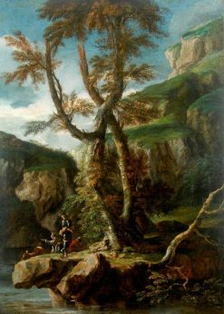Soldiers in a Rocky Gorge | Salvator Rosa | Oil Painting