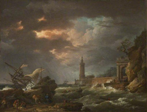 The Tempest (Storm off the Coast) | Claude Joseph Vernet | Oil Painting