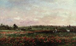 Fields in the Month of June | Charles Francois Daubigny | Oil Painting