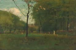 Landscape—Figures in a Field | George Inness | Oil Painting