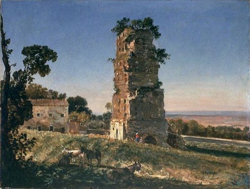 Ancient Tomb at the Entrance of Albano   George Loring Brown   Oil Painting