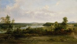 View of the Hudson River Near Tivoli | Thomas Doughty | Oil Painting
