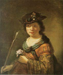 Young Shepherdess   Govaert Flinck   Oil Painting