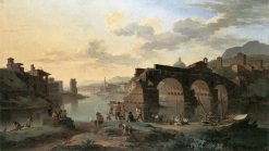 River View with the Ponte Rotto | Jacob de Heusch | Oil Painting