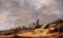 Dune Landscape   Jan van Goyen   Oil Painting