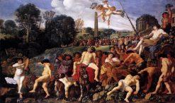 Bacchanalian Scene   Moses van Uyttenbroeck   Oil Painting