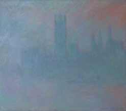 Houses of Parliament in the Fog | Claude Monet | Oil Painting
