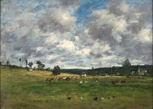 Fervaques (Landscape) | Eugene Louis Boudin | Oil Painting