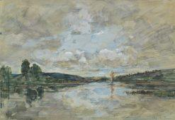 Estuary   Eugene Louis Boudin   Oil Painting