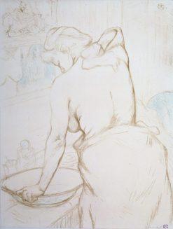 Femme qui se lave; La Toilette | Henri de Toulouse Lautrec | Oil Painting