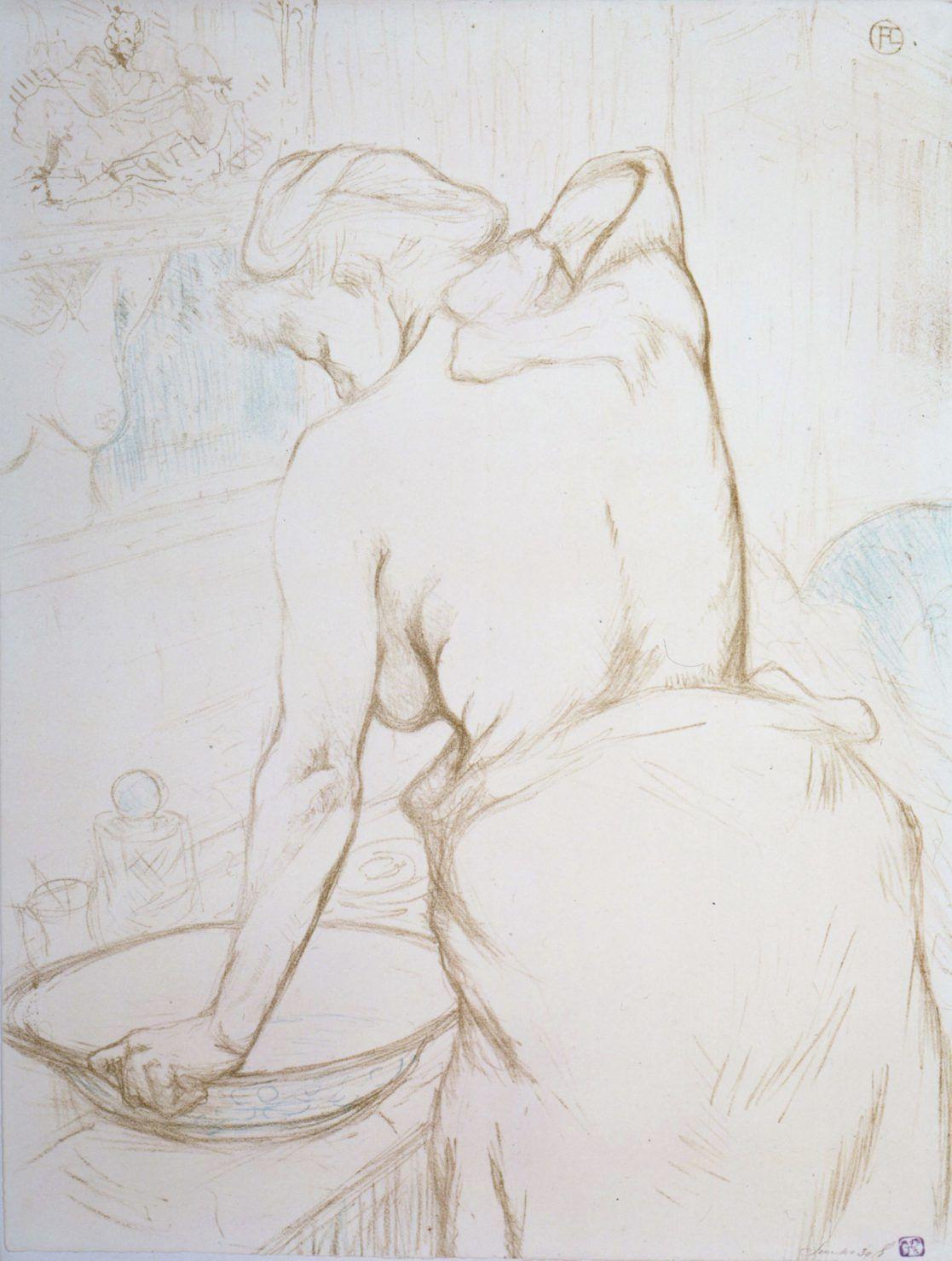 femme qui se lave