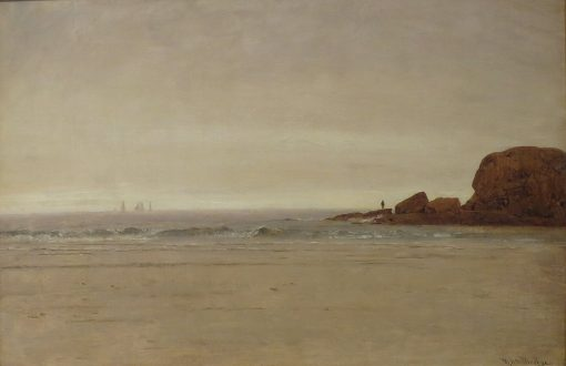 Beach and Rocks | Thomas Worthington Whittredge | Oil Painting