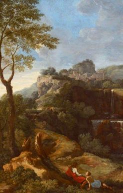 A Mountainous Italianate Landscape with Figures | Gaspard Dughet | Oil Painting
