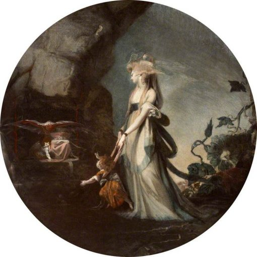 Mamillius Conjuring up Sprites and Goblins for His Mother | Johann Heinrich Fuseli | Oil Painting