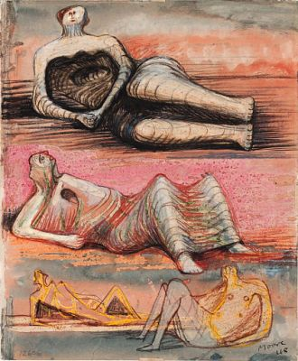 "Mother and Child on Rocking Chair(also known as Study for ""Rocking Chair"" No. 2) 
