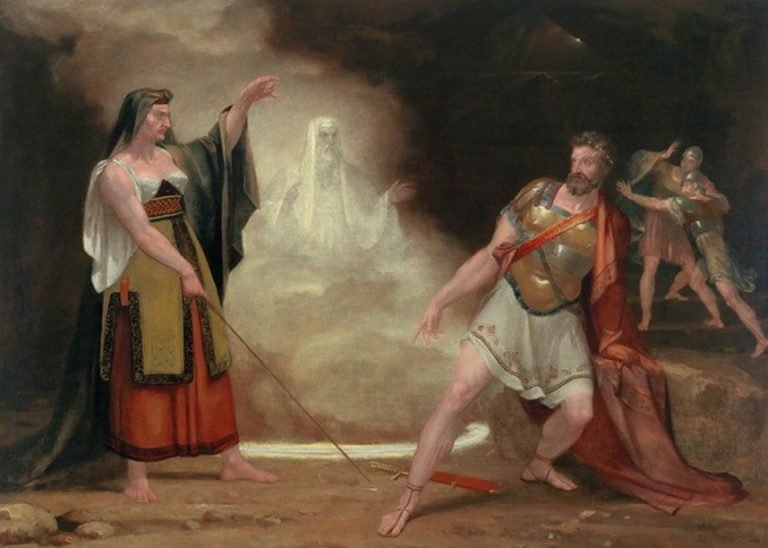 Saul and the Witch of Endor | Washington Allston | Oil Painting