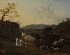 Landscape with Sleeping Herdsmen | Carel Dujardin | Oil Painting