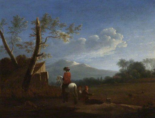Landscape with Bird Catchers | Carel Dujardin | Oil Painting