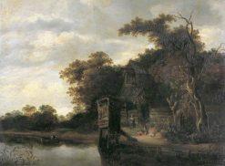 Cottage by a River | Cornelis Gerritsz. Decker | Oil Painting