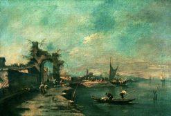 Coastal Scene | Francesco Guardi | Oil Painting