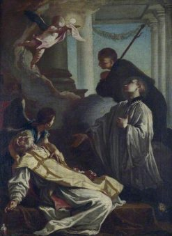Death of Saint Andrea Avellino | Giovanni Battista Piazzetta | Oil Painting