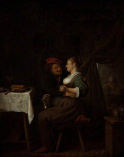 Courtship | Hendrik Martensz. Sorgh | Oil Painting