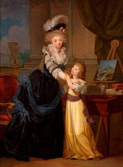 A Young Lady and a Little Girl | Marguerite GErard | Oil Painting