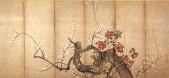 Flowering Plum and Camellia | Suzuki Kiitsu | Oil Painting