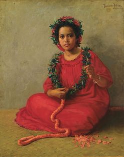 The Lei Maker | Theodore Wores | Oil Painting
