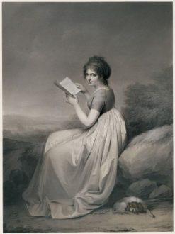 Jeune femme lisant dans un paysage | Louis LEopold Boilly | Oil Painting