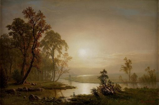 Across the Prairie | Albert Bierstadt | Oil Painting