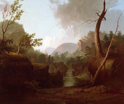 Mountain Scene with Deer | George Caleb Bingham | Oil Painting