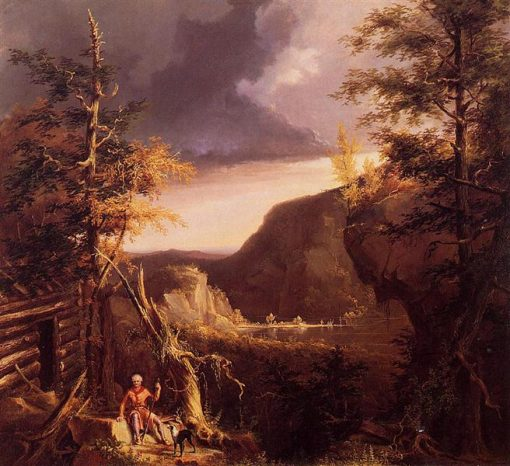 Daniel Boone Sitting at the Door of His Cabin on the Great Osage Lake, 1826 - Thomas Cole