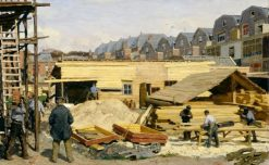 Houses under Construction | Willem Bastiaan Tholen | Oil Painting