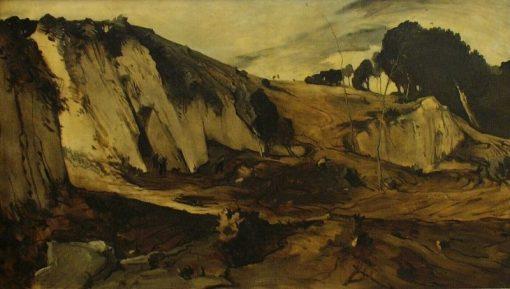 The Mine Excavation   Willem van Konijnenburg   Oil Painting