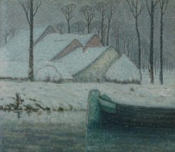 Barge in the Snow | William Degouve de Nuncques | Oil Painting