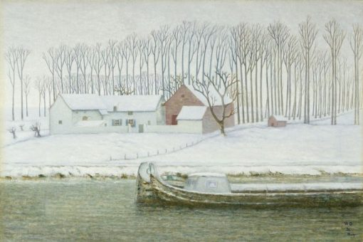 The Canal near Haeren (winter) | William Degouve de Nuncques | Oil Painting