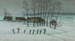 Neige a Berchem-Sainte-Agathe (Snow at Berchem-Sainte-Agathe) | William Degouve de Nuncques | Oil Painting