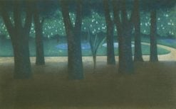 Park in Milan | William Degouve de Nuncques | Oil Painting