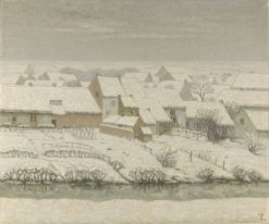 Winter in the Village (Hainaut) | William Degouve de Nuncques | Oil Painting