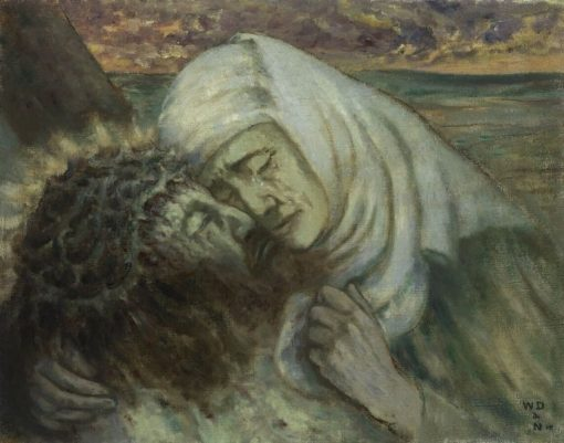 Our lady of Sorrows   William Degouve de Nuncques   Oil Painting