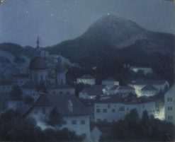 Night in Salzburg | William Degouve de Nuncques | Oil Painting