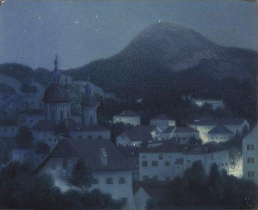 Night in Salzburg | William Degouve de Nuncques | Oil Painting